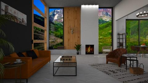ASPEN CHILET - Living room - by NadineHerwig