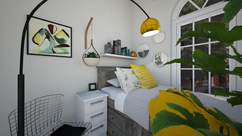 yellow accents - Bedroom - by alparensie