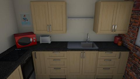 Kitchen layout - Eclectic - Kitchen - by pinklilith