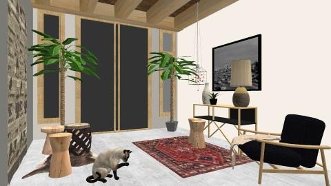 Garden View 1 - Living room - by cervidaeus