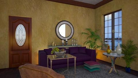 Velvet Sofa - Living room - by yonvie