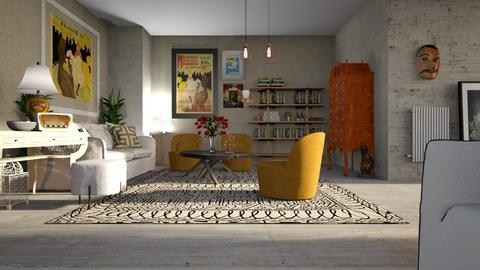 Eclectic1 - Living room - by ZuzanaDesign