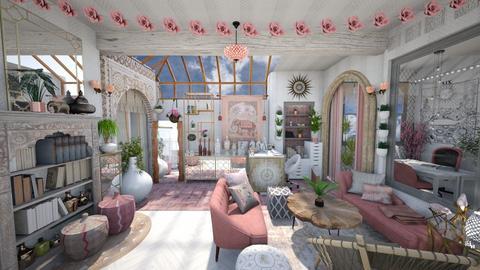 Boho Pastel Office Lobby - Office - by AlocinB