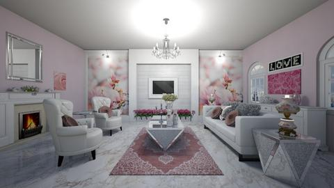 pink white - Living room - by virgen