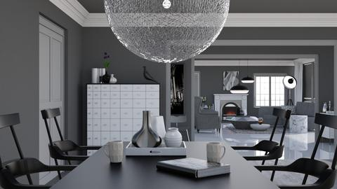 Black Grey and White - Minimal - Living room - by HenkRetro1960
