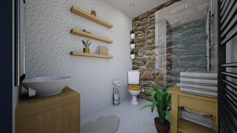 Bleu Haze bathroom  - Bathroom - by Lisett