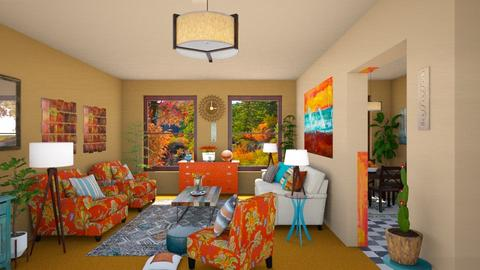 Orange Carpet - by Teri Dawn