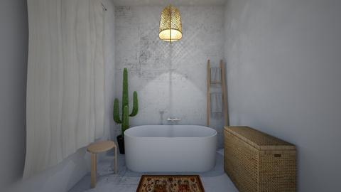 Rustic accent - Bathroom - by DomiMat