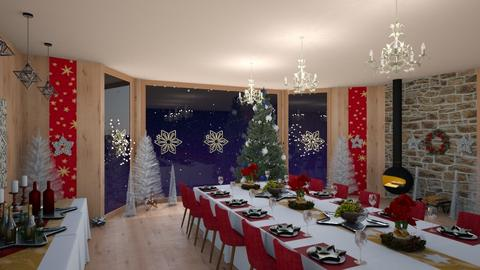 stars and trees - Dining room - by Phospective