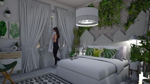 urban jungle bed - Global - Bedroom - by donella