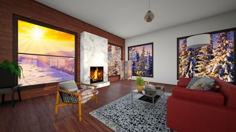 cozy living room - Living room - by leamarcouxdesign
