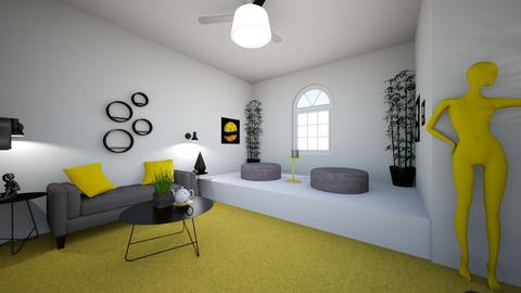 Yellow  - Living room - by UniverseFloater