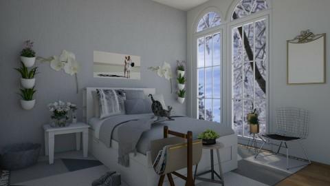 moody grey - Modern - Bedroom - by modern budding designer