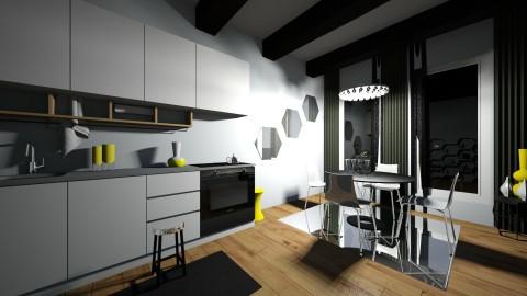 Poppin Yellow - Retro - Kitchen - by XiraFizade