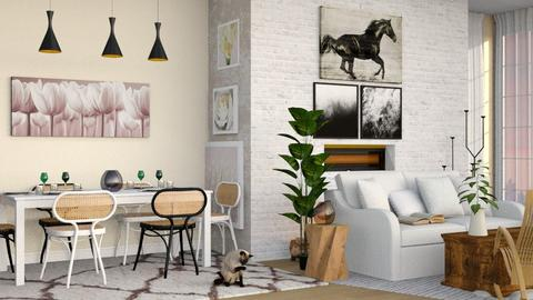 Thonet  - Country - Living room - by elephant in savanna
