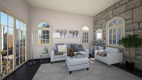 enjoying Sunday  - Living room - by jana krstic