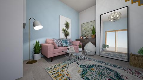 Pastel Pink Living Room - Living room - by Laura15072000