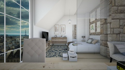 Relaxing Loft - Modern - Bedroom - by christoforos