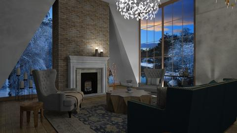 fireplace - Classic - Living room - by tolo13lolo