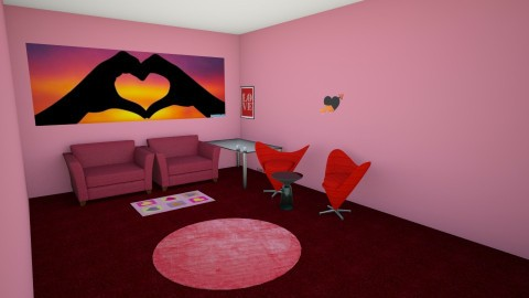 happy valentians - Living room - by roommaker123