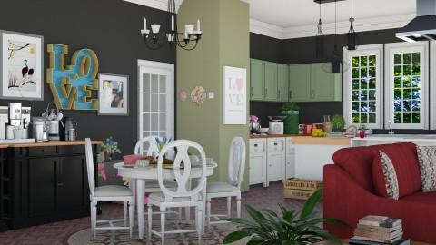 Love - Vintage - Kitchen - by ayudewi