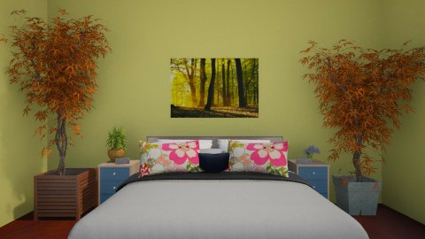 Colurful Master Bedroom - Bedroom - by Mya