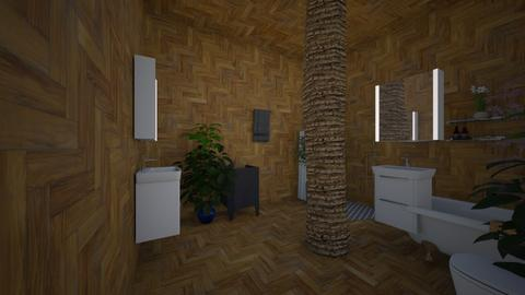 fany jungle bathroom - Bathroom - by Maria Jose y alex