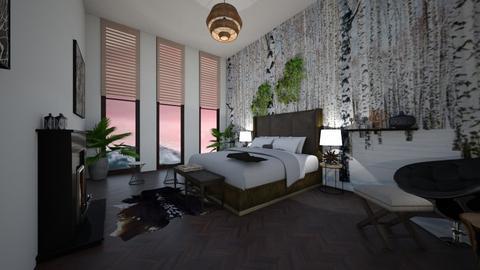 Mural Bedroom - Rustic - Bedroom - by lionhuntress29