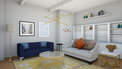 lr1 - Eclectic - Living room - by corbu_cat