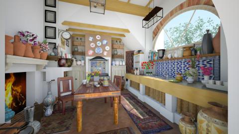Mediterranean kitchen - Rustic - Kitchen - by maja97