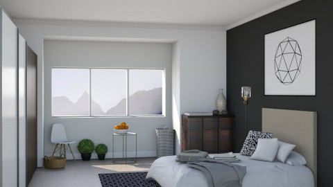 Geometric Grey - Modern - Bedroom - by Musicman