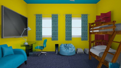 Evan's room - Bedroom - by a2steam