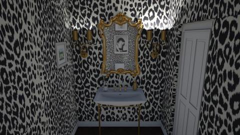 cheetah powder room - Bathroom - by Alice Connor