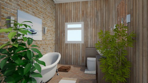 white and brown - Modern - Bathroom - by Salma Elsheikh