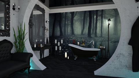 Black Bath - Glamour - Bathroom - by soralobo