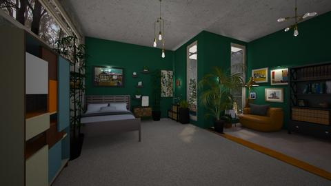jungle room - Bedroom - by niok