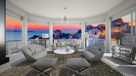 Santorini - Classic - Living room - by Lucii