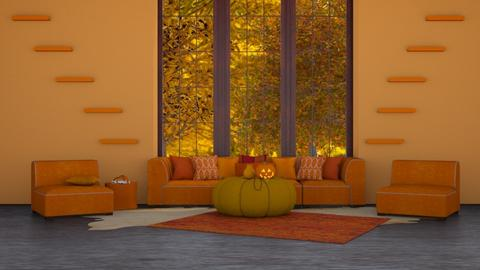 Autumn - Country - Living room - by NEVERQUITDESIGNIT