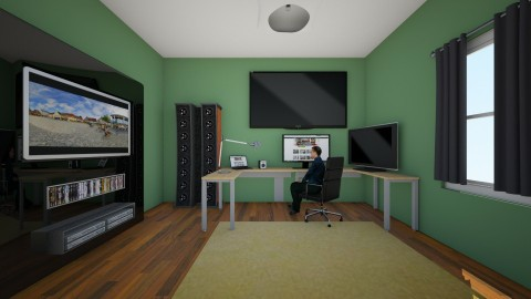 gaming setup - Modern - Office - by mrrhoads23