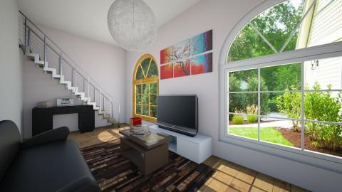 Cute house - Living room - by Dasha Chukalovskaya