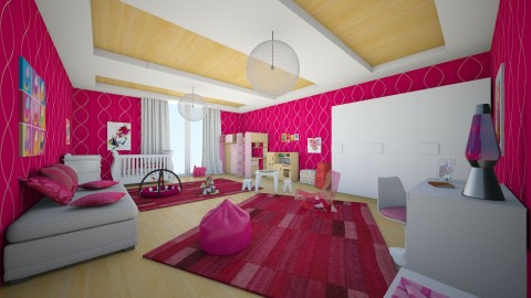 girls room - Modern - Kids room - by Vasiliki Stagkidou