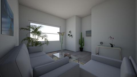 Grey Palm Trees - Minimal - Living room - by designercamp