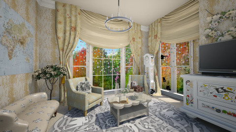 Eglomise room - Vintage - Living room - by sapphire12