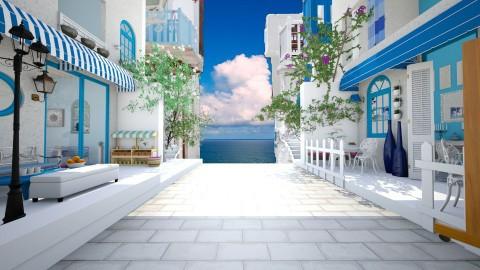 Santorini_to the sea - Garden - by thefairysknight