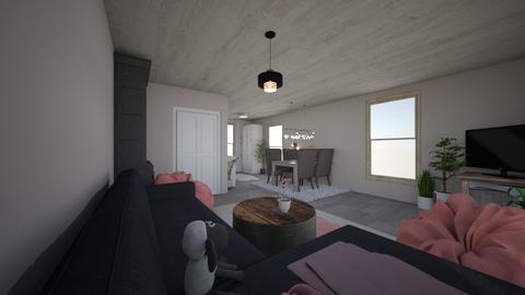 House - Rustic - Living room - by FAGiraffe