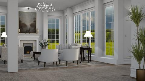 Living with Columns - Living room - by GraceKathryn