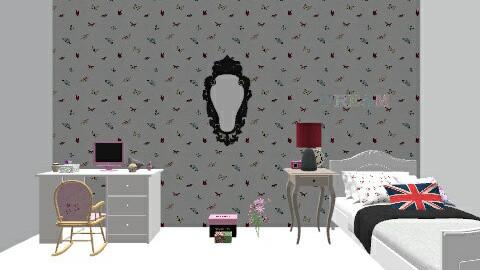 Meu quarto da casa nova - Vintage - Bedroom - by Thaynar Ferreira