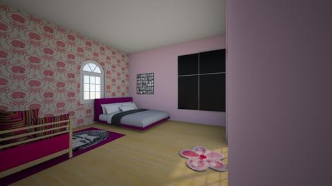 pink theme bedroom - Bedroom - by bluedolphin12