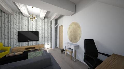 2Mansarda Bogdan 2 - Living room - by LauraBreaban