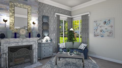 Blue Eye Catcher  - Living room - by Kelly Carter